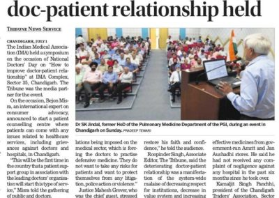 doctor n patient relation news