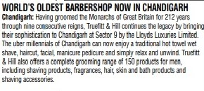 World's oldest barbershop from London, now in Chandigarh